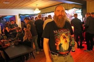 Tim Sandberg från Torsåker gjorde ett stopp på Gästis på söndagskvällen.
