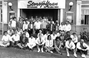 Det här är ungefär en tredjedel av alla frivilliga som arbetade med Storsjöyran 1984.