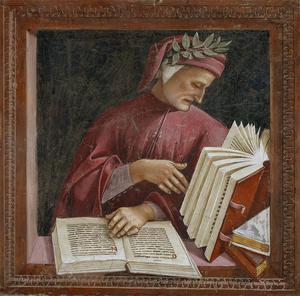 Dante Alighieri. Fresk av Luca Signorelli.