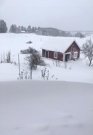 Snösöndag fotat vid lunchtid i Galltorp. Foto: Inger Sundström