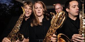 Stockholms Saxofonkvartett bildades 1969 och har sedan dess fått sig tillskrivet mer än 700 verk av svenska och utländska tonsättare. Foto: Hampus Andersson