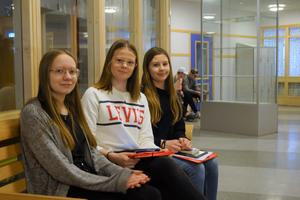 Alice Thessén, Sara Ingvarsson och Hilda Gustafsson.