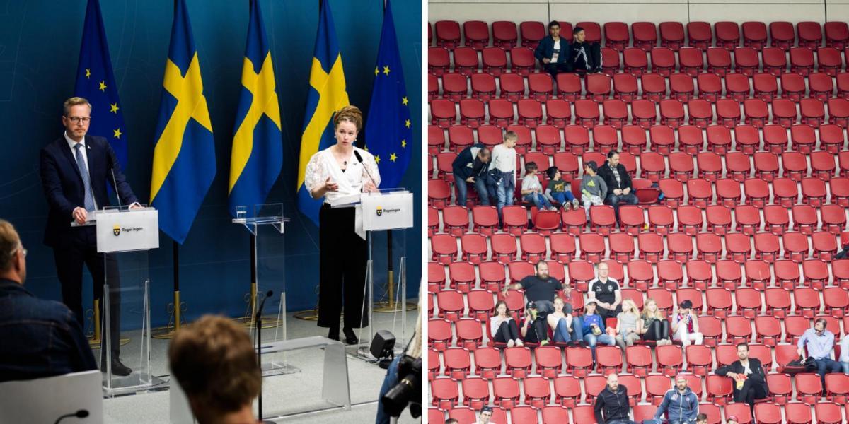 Beskedet: Regeringen öppnar för sittande publik på idrottsevenemang