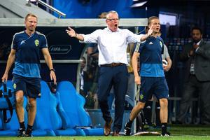 Janne Andersson var ordentligt irriterad efter slutsignalen. Bild: Petter Arvidson/Bildbyrån.