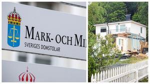 Fastighetsbolaget Östfastigheter vill omvandla en gammal villa till ett flerbostadshus i Östertälje. Men har fått bygglovet upphävt av mark- och miljödomstolen. Foto: Johan Nilsson/TT och Karolina Önnebro