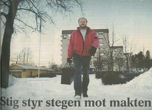 Januari 1999. Stig Henriksson (V) tog första stegen mot maktens centrum. Han kom att bli kvar där i 16 år.