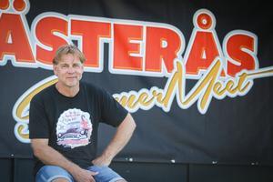 Klas Brink vid den stora Summer Meet-scenen på Johannisberg.Foto: Lennye Osbeck