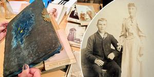 Olof Nilsson från Lyngsta gifte sig i Amerika. Om det är Ida Sofia Nilsson från Västerhaninge på bilden är dock osäkert. Bilden är tagen 1893 i Murray, och Olof och Ida gifte sig först 1895.