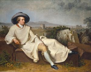 Johann Wolfgan von Goethe. Målning av Johann Heinrich Wilhelm Tischbein 1787.