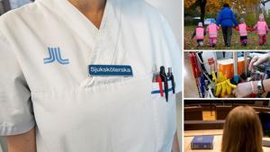 Sjuksköterskor och jurister väntas vara heta på arbetsmarknaden i år – för barnskötare och städare ser konkurrensen om jobben ut att bli tuffare. Bild: TT arkiv