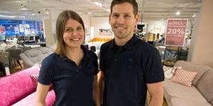 Syskonen Johan och Cornelia Gothnell har köpt Mio möbler i Örnsköldsvik. Foto: Per Landfors/VK