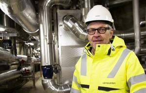 Vid nollgradigt väder räcker den lagrade energin till fjärrvärme i en vecka, berättar projektledare Bernt Larsson.