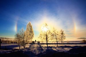 Foto:  Roland Moberg   Inte så ofta man får se ljusfenomenet Halo i Västerås men under cirka en timme kunde man se det över Mälaren under förmiddagen 6 februari.