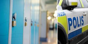 Tre personer tog sig in på en gymnasieskola i Falun och hotade två elever. Bilderna är tagna i andra sammanhang. Foto: TT