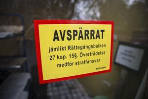 Under måndagen genomförde polisen en teknisk undersökning på Mejerigatan i Krylbo.