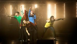 Utöver rollen som skapare av animeringar och program fanns även eleverna från medieprogrammet med som dansare i vissa nummer.