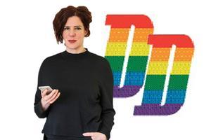 Dala-Demokratens logga i papperstidningen kommer mellan den 31 juli till 4 augusti att prydas med en regnbågsfärgad variant till skillnad från den klassiskt röda.