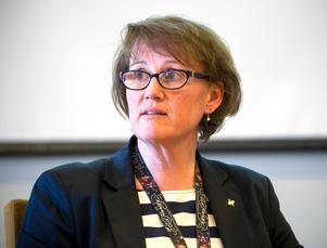 Fastighetsdirektör Helena Ribacke konstaterar att det krävs omfattande ombyggnationer för att kunna flytta ögonsjukvården till Södertull.