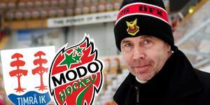 Ulf Dahlén med ÖFK-mössan på. Han utesluter jobb i Timrå och Modo... för tillfället. Foto: Nils Jakobsson/Bildbyrån.