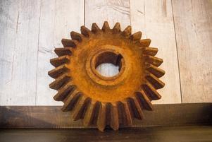 Kugghjulet  väger närmare 40 kilo.