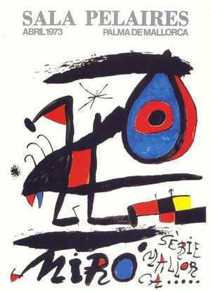 Ögat är det som alltid finns med i Mirós bilder.