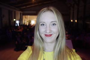 Nathalie Liljedahl jobbade som kvällens konferencier.