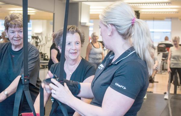 Carina Bergström tränar tre gånger i veckan och har kört i cirka fem år.