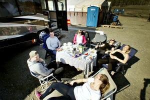 Erik Malmberg, Hans Nilsson, Marie-Louise Lunneborg, Ellen Lunneborg, Rebecca Lunneborg och Michaela Lunneborg från Härnösand.