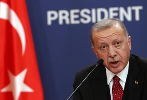 Turkiets president Erdogan.