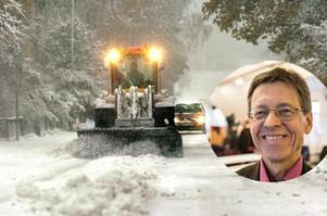 Redan till helgen kan Faluns nya organisation för snöröjning sättas på prov. Ett nederbördsområde väntas in där Falun under måndagen bedömdes ligga på gränsen mellan snö och regn.