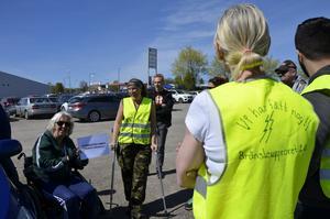Gruppen samlades runt Liselotte Högman för att gå igenom dagens cruisingplan.