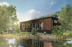 Kostnaderna för den nya simhallen stiger med tolv miljoner. Bild: Norrconsult
