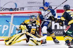 Målvakten Alexander Sahlin missar SSK:s sista träningsmatch. Foto: Johanna Lundberg / Bildbyrån