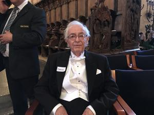 """""""Världsarkivarien"""" Alf Erlandsson promoverades 2018 till jubeldoktor i Lund."""
