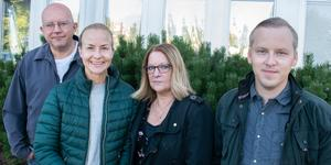 Torbjörn Granling, Marie Bergström, Anette Larsson och Hampus Petersson