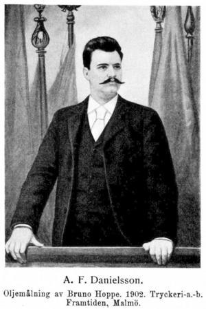 Axel Danielsson, en oljemålning av Bruno Hoppe.