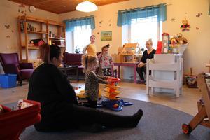 By-Folkärna pastorats öppna förskola huserar nu i en lokal ovanpå pastorsexpeditionen i Krylbo.