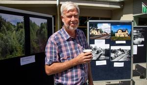 Bengt Sandhammar, ordförande för Föreningen Dala-Hälsinglands järnväg, passade på att slå ett slag för ett återinförande av Orsabanan.