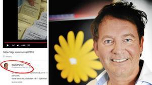 Joakim Granberg, Realistpartiet.Foto: Skärmdump Realistpartiets Youtubekanal/Christina Hjalmarsson (LT)