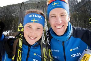 Tove Alexandersson och Erik Rost tog båda varsin EM-medalj under lördagen. Magdalena Olsson knep silvret i damklassen. Bild: Stina Loman/Svenska Orienteringsförbundet.