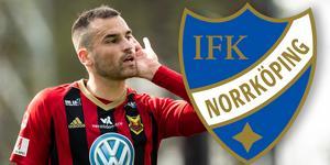 Dino Islamovic kan hamna i Norrköping – om klubben möter ÖFK:s krav. Bild: Johan Axelsson (Bildbyrån)