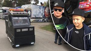 På Lastbilsträffen Ramsele gör Erik Mårtenssons och Robin Brännströms lådbil succé.