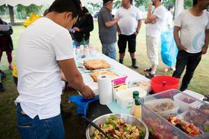 Det var stor variation på maten under lördagen, allt från strömming, till bolani, till gräddtårta.