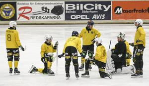 Tre av Brobergs totalt fem nyförvärv var med på träningen i Helsingehus arena.