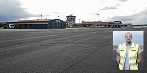 Mathias Wiberg är flygplatschef på Härjedalen Sveg Airport.