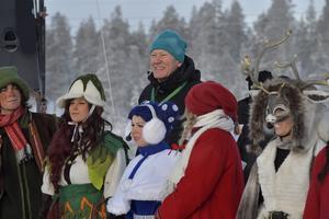 Det blev en sagolik invigning av den nya skidanläggningen Idre Himmelfjäll, en anläggning som Staffan Derning lagt ner över 30 år på att förverkliga.