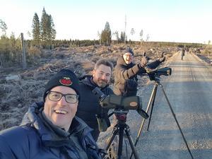 Anders Johansson, närmast kameran, tillsammans med kompisarna Mikael Svensson och Olle Thyrestam. Foto: Privat.
