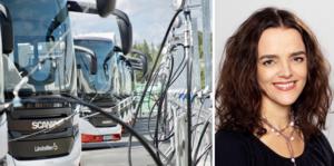 Linda Burenius slår ett slag för biogasen i Västernorrland.