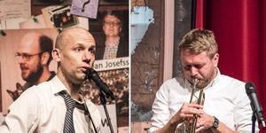 Ola Aurell och Isak Jansson bjöd på både satir och en ordentlig dos självironi under föreställningen.