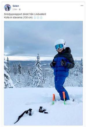 Skärmdump från SkiStar Sälens Facebook-sida.